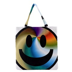 Simple Smiley In Color Grocery Tote Bag by Nexatart