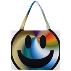 Simple Smiley In Color Mini Tote Bag by Nexatart