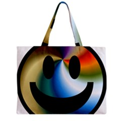 Simple Smiley In Color Zipper Mini Tote Bag by Nexatart