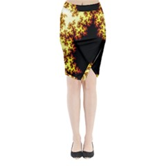 A Fractal Image Midi Wrap Pencil Skirt