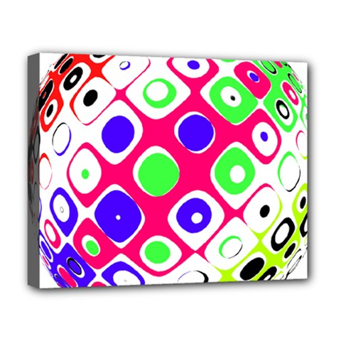 Color Ball Sphere With Color Dots Deluxe Canvas 20  X 16   by Nexatart