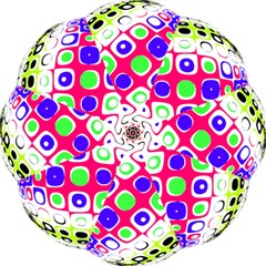 Color Ball Sphere With Color Dots Hook Handle Umbrellas (medium) by Nexatart