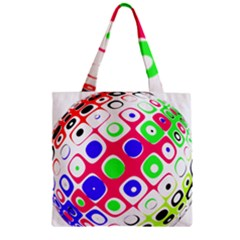 Color Ball Sphere With Color Dots Zipper Grocery Tote Bag by Nexatart