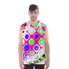 Color Ball Sphere With Color Dots Men s Basketball Tank Top by Nexatart