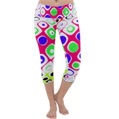 Color Ball Sphere With Color Dots Capri Yoga Leggings by Nexatart