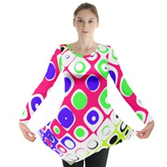 Color Ball Sphere With Color Dots Long Sleeve Tunic  by Nexatart