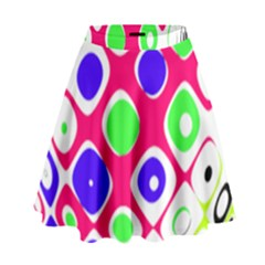 Color Ball Sphere With Color Dots High Waist Skirt by Nexatart