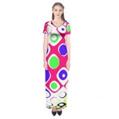 Color Ball Sphere With Color Dots Short Sleeve Maxi Dress by Nexatart