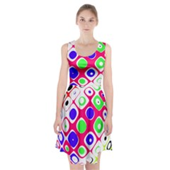 Color Ball Sphere With Color Dots Racerback Midi Dress