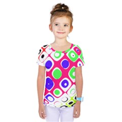 Color Ball Sphere With Color Dots Kids  One Piece Tee by Nexatart