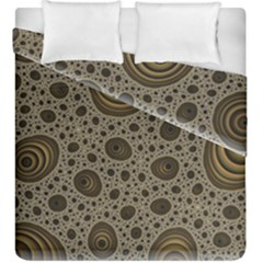 White Vintage Frame With Sepia Targets Duvet Cover Double Side (king Size) by Nexatart