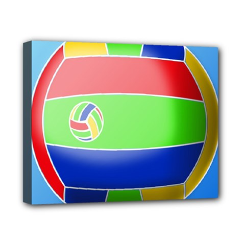 Balloon Volleyball Ball Sport Canvas 10  X 8
