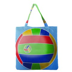 Balloon Volleyball Ball Sport Grocery Tote Bag by Nexatart