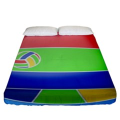 Balloon Volleyball Ball Sport Fitted Sheet (king Size)