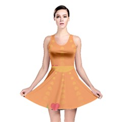 Love Heart Valentine Sun Flowers Reversible Skater Dress