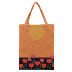 Love Heart Valentine Sun Flowers Classic Tote Bag