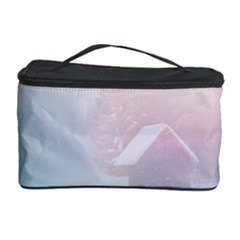 Winter Day Pink Mood Cottages Cosmetic Storage Case