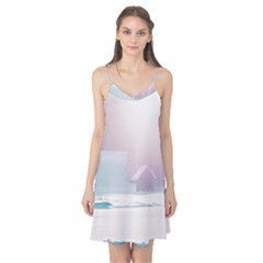 Winter Day Pink Mood Cottages Camis Nightgown