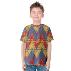Aztec South American Pattern Zig Zag Kids  Cotton Tee