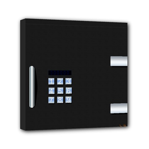 Safe Vault Strong Box Lock Safety Mini Canvas 6  X 6  by Nexatart