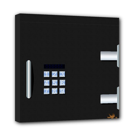 Safe Vault Strong Box Lock Safety Mini Canvas 8  X 8  by Nexatart