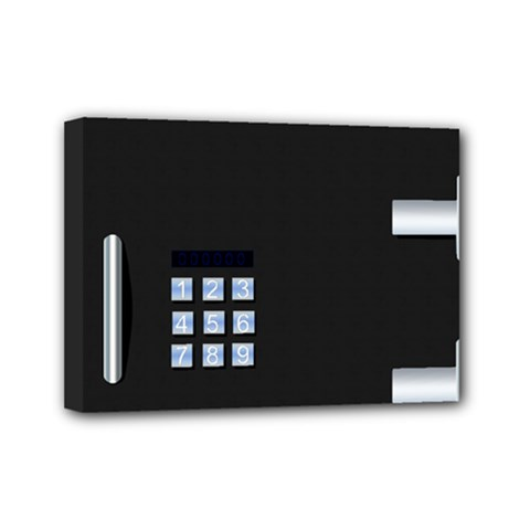 Safe Vault Strong Box Lock Safety Mini Canvas 7  X 5  by Nexatart