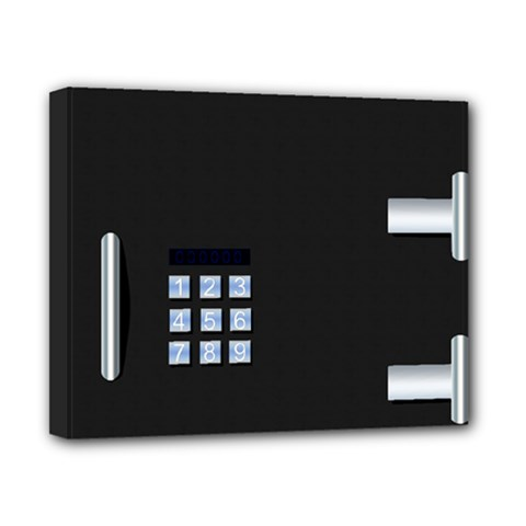 Safe Vault Strong Box Lock Safety Canvas 10  X 8  by Nexatart