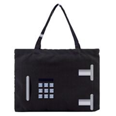 Safe Vault Strong Box Lock Safety Medium Zipper Tote Bag by Nexatart