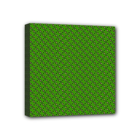Paper Pattern Green Scrapbooking Mini Canvas 4  X 4