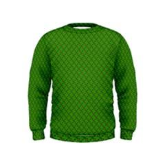 Paper Pattern Green Scrapbooking Kids  Sweatshirt