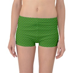 Paper Pattern Green Scrapbooking Boyleg Bikini Bottoms