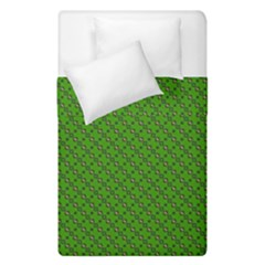 Paper Pattern Green Scrapbooking Duvet Cover Double Side (single Size)