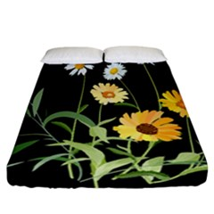 Flowers Of The Field Fitted Sheet (california King Size)