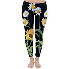 Flowers Of The Field Classic Winter Leggings