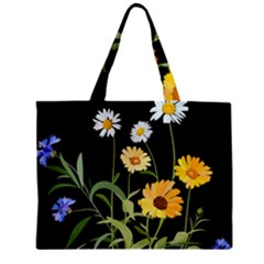 Flowers Of The Field Zipper Mini Tote Bag by Nexatart