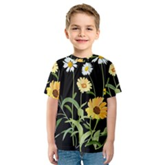 Flowers Of The Field Kids  Sport Mesh Tee