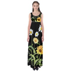 Flowers Of The Field Empire Waist Maxi Dress