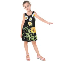 Flowers Of The Field Kids  Sleeveless Dress