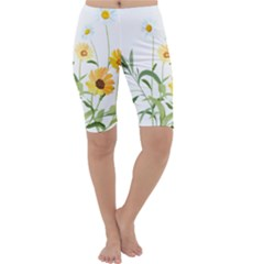 Flowers Flower Of The Field Cropped Leggings