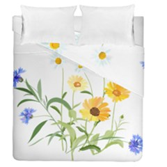 Flowers Flower Of The Field Duvet Cover Double Side (queen Size)