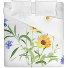 Flowers Flower Of The Field Duvet Cover Double Side (king Size)