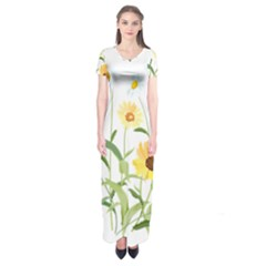 Flowers Flower Of The Field Short Sleeve Maxi Dress
