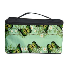 Green Butterflies Cosmetic Storage Case by linceazul
