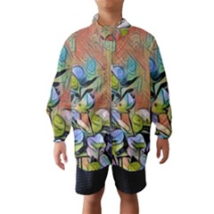 Spring Flowers Magic Cube Wind Breaker (kids) by DeneWestUK