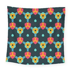 Connected Shapes Pattern         Fleece Blanket by LalyLauraFLM