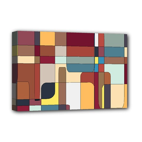 Patchwork Deluxe Canvas 18  X 12   by theunrulyartist
