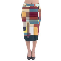 Patchwork Midi Pencil Skirt by theunrulyartist