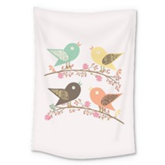 Four Birds Large Tapestry by linceazul