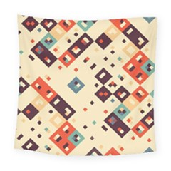Squares In Retro Colors        Fleece Blanket by LalyLauraFLM