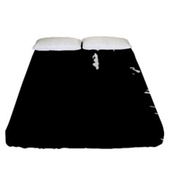 Abstraction Fitted Sheet (queen Size) by Valentinaart